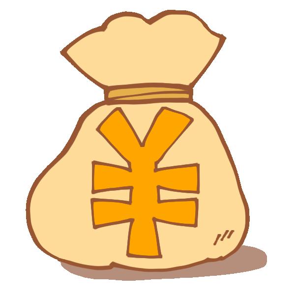 お金袋のイラスト